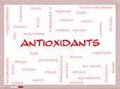Antioxidants Word Cloud Concept On A Whiteboard