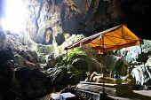 The Buddhist Cave Of Pukham Near Vang Vieng ,laos.