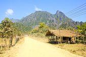 On A Rural Road ,vang Vieng ,laos.