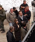 BUDAPEST - NOVEMBER 4: Angelina Jolie, in her directorial debut, on the set of her Bosnian war love movie currently in production in Budapest, Hungary, on Thursday, November 4, 2010.