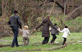 BUDAPEST - NOVEMBER 5: Brad Pitt and Angelina Jolie take their children Pax, Zahara and Shiloh to a