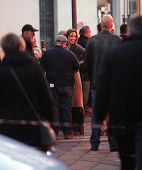 ESZTERGOM, HUNGARY - NOVEMBER 13: Angelina Jolie directs a night shoot on the set of directorial deb