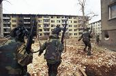 SARAJEVO, BOSNIA - MAR 18: Italian army troops, in Bosnia as part of the United Nations' UNPROFOR, p