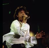 WASHINGTON, D.C. - AUG 4: The Rolling Stones in concert at RFK stadium during the Voodoo Lounge Tour in Washington, D.C., on Thursday, August 4, 1994. Seen here is Mick Jagger.