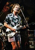 EAST RUTHERFORD, NEW JERSEY - AUGUST 3: The Grateful Dead in concert in East Rutherford, New Jersey, on Sunday, August 3, 1994. Seen here is Bob Wier.
