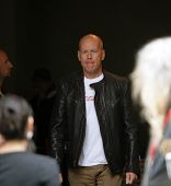 BUDAPEST - MAY 7: Actor Bruce Willis arrives for the first day of shooting on the set of Die Hard 5: