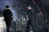 BUDAPEST, HUNGARY, AUGUST 10: The British indie pop band XX play live in concert at the annual Szige
