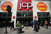 NEW YORK CITY - APRIL 19: Shoppers walk past a J.C. Penny store in New York City, on Friday, April 1