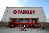 HACKENSACK - JULY 11: Shoppers walk past a Target department store in Hackensack, New Jersey on Thur