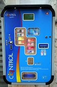 LA SPEZIA - ITALY: AUG 19:  A condom vending machine  in La Spezia, Italy, on Monday, August 19, 201