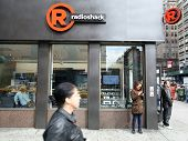 NEW YORK CITY - OCT 23 2013: A general exterior view of a Radio Shack retail store in Manhattan on Wednesday, October 23, 2013.  RadioShack  is an American franchise of electronics retail stores.
