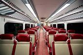 NEW YORK CITY - FEB. 16, 2014: A general interior photo of an empty Metro-North commuter train carri
