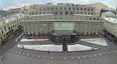 MOSCOW, RUSSIA - DEC 1, 2013: (aerial view) Central Department Store on Neglinnaya street was built in 1906-1908.