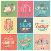 Summer set - labels and emblems.