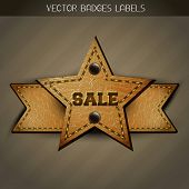 vector  sale leather label design