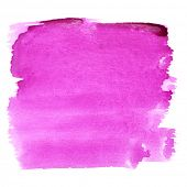 Violet watercolor brush strokes - space for your own text