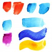 Punctuation marks - colorful watercolor alphabet