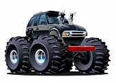 stock photo of bigfoot  - Cartoon Monster Truck - JPG