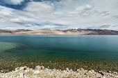 stock photo of jammu kashmir  - Himalayan mountain lake in Himalayas Tso Moriri  - JPG