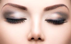 stock photo of dark-skin  - Beauty Eyes Makeup - JPG