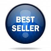 best seller internet blue icon