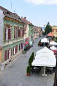 image of sibiu  - sibiu city romania cetatii street general view - JPG