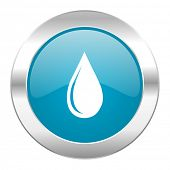 water drop internet blue icon