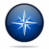 compass internet blue icon