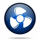 fan internet blue icon
