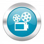 movie internet blue icon