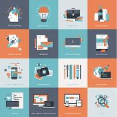 Set of flat design concept icons for web and graphic design development