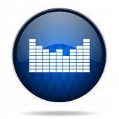 music internet blue icon