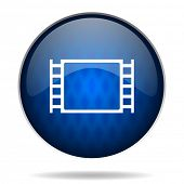 cinema internet blue icon