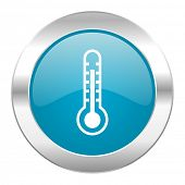 thermometer internet blue icon