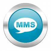 mms internet blue icon