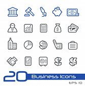 Business & Finance Icons // Line Series