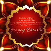 Vector beautiful background of diwali diya