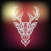 Deer head. Ethnic background.