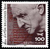 Postage Stamp Germany 1996 Anton Bruckner, Austrian Composer