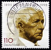 Postage Stamp Germany 1998 Ernst Junger, German Writer