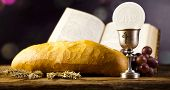 stock photo of eucharist  - Holy Communion Bread - JPG