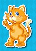 Illustration of a kitten with background