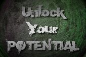 Unlock Your Potential Concept