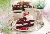 Piece Of Fresh Homemade Black Forest Cake