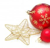 christmas ball isolated on a white background