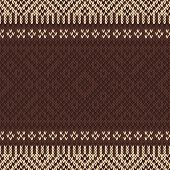 Seamless Knitted Pattern. Vector Background