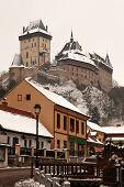 Karlstejn in winter, Czech Republic
