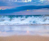 beach at beautiful sunset