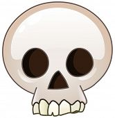 Skull cartoon icon