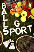 Sports Equipment and grass
